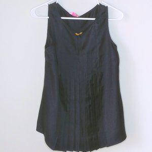 Lilly Pulitzer Tara Shell Navy Top - Size 4
